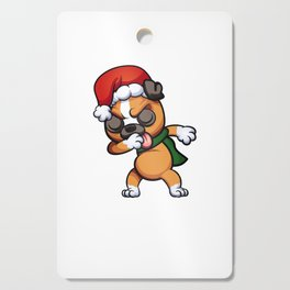 Dabbing Boxer Santa Best Gift For Christmas Cutting Board