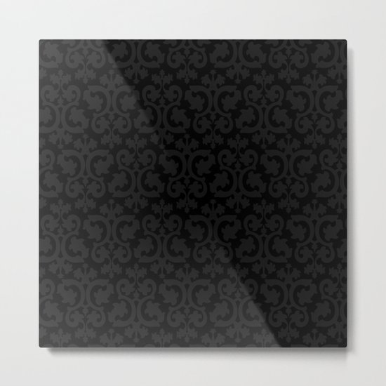Black and Dark Grey Damask Pattern by annaleeblysse