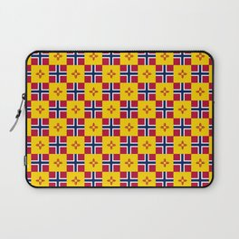 Mix of flag: norway and new mexico Laptop Sleeve