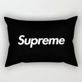 Supreme Box Logo Black Rectangular Pillow