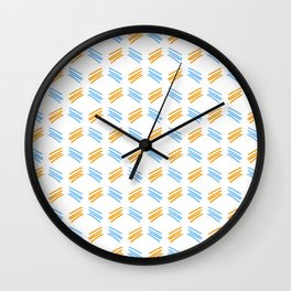 four lines 27 orange and blue Wall Clock
