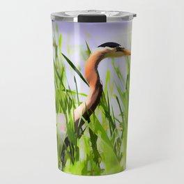 Master of the Marshes  -  Blue Heron Travel Mug