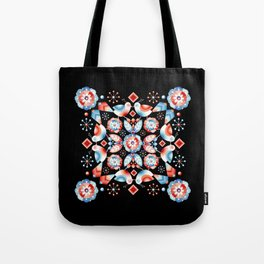 Folkloric Ombre Lovebirds Tote Bag