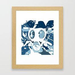 Gasmask Blues Framed Art Print