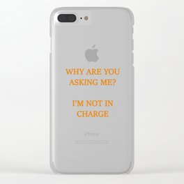 Not the boss Clear iPhone Case