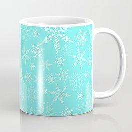 Mint Blue Snowflakes Coffee Mug