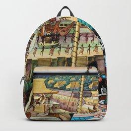 The Totonac Civilization or the Jaguar People in Veracruz, Palacio Nacional Mexico by Diego Rivera Backpack