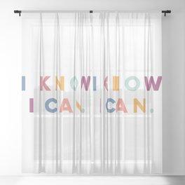 I Know I Can Postive Print Sheer Curtain