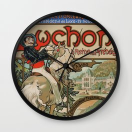 "Alphonse Mucha ""Luchon"" Wall Clock"