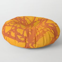 Sunlight and Tree Silhouettes Floor Pillow