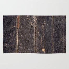 Vintage Black Wood Rug
