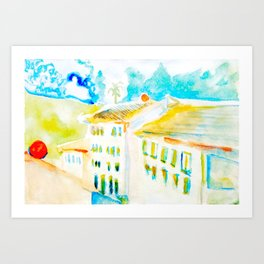 Apartment In Italy Art Print