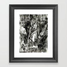 Dream view serie - Forest meeting III Framed Art Print
