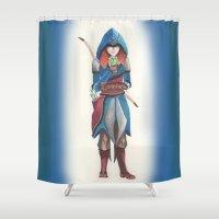 merida Shower Curtains featuring Assassin Merida by Amanda