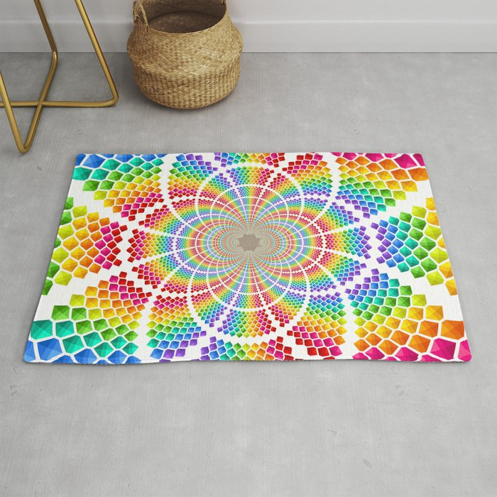 Colourful Structure Rug By Aubrih