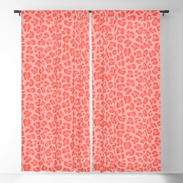 Leopard - Living Coral Blackout Curtain