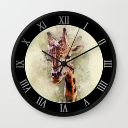 Giraffe - digital artwork Wall Clock