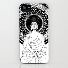 The Monk- White iPhone Case
