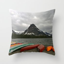 Two Medicine Lake With Sinopah Mountain Throw Pillow