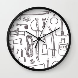 Pirate's Kit Wall Clock