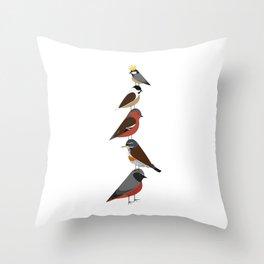 Bird Tower Throw Pillow