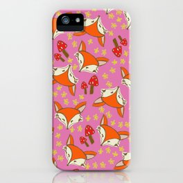 Foxy floral iPhone Case