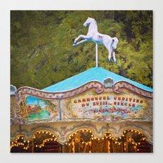 Vintage Paris Carousel Canvas Print