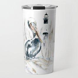 Tybee Island Pelican Travel Mug