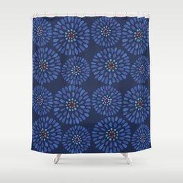 Underwater Flower Pattern Shower Curtain