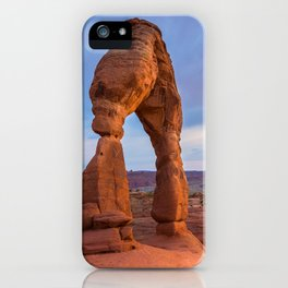 Golden Arch - Delicate Arch at Sunset in Utah iPhone Case