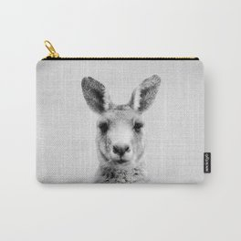 Kangaroo - Black & White Carry-All Pouch