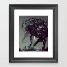Frankenstein Titan Bot Framed Art Print
