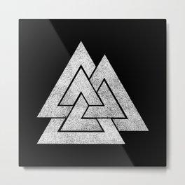 Valknut Metal Print