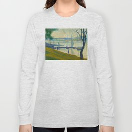 Bridge at Courbevoie Georges Seurat - 1886-1887 Impressionism Modern Pointillism Oil painting Long Sleeve T-shirt