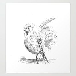 The Chicken Groomers Art Print