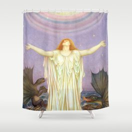 "Evelyn De Morgan ""S.O.S."" Shower Curtain"