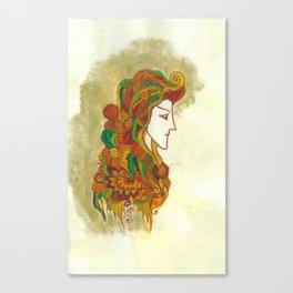 Golden Portrait Canvas Print