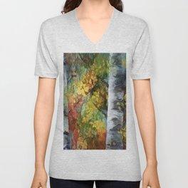 Birch Trees - III Unisex V-Neck