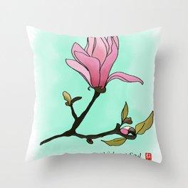 Mangolia Throw Pillow