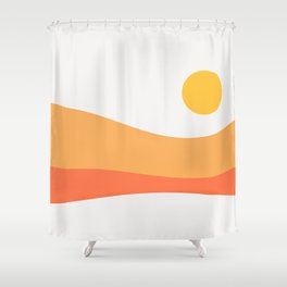 Geometric Landscape 22 Day Shower Curtain