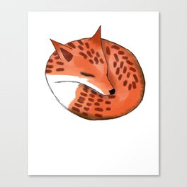Woodland Creature Series: Fox Canvas Print