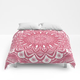 Red Wine Color Mandala Minimal Minimalistic Simple (Yet Bold) Comforters