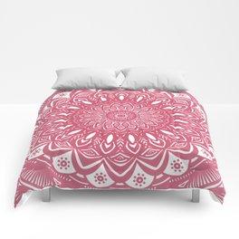 Red Wine Color Mandala Minimal Minimalistic Simple (Yet Bold) Comforters