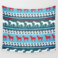 sweater Wall Tapestries featuring Sweater Unicorn by That's So Unicorny