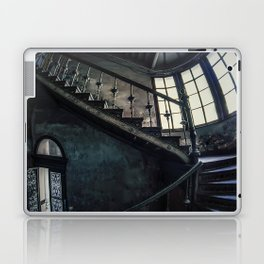 Twisted blue and gray staircase Laptop & iPad Skin