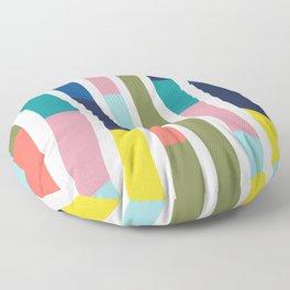 Pantone Colors Geometric Floor Pillow