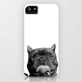 frenchie licking you iPhone Case
