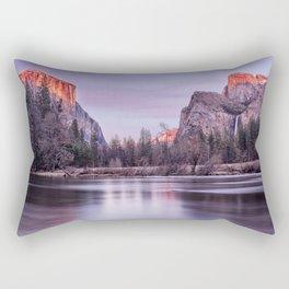 Yosemite National park sunset Rectangular Pillow