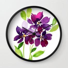 Violet Femmes Wall Clock