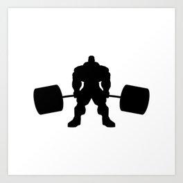 Heavy weight lifting beast Art Print